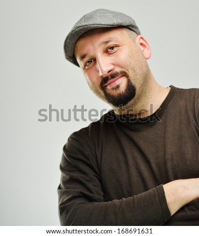 Attractive young guy posing in studio - stock photo