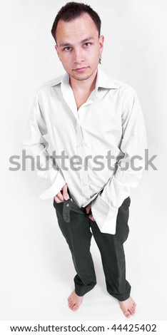 attractive young man portrait