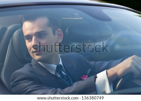 Attractive young man ready to get married - stock photo