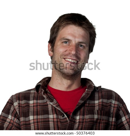Attractive young man smiling for the camera - stock photo