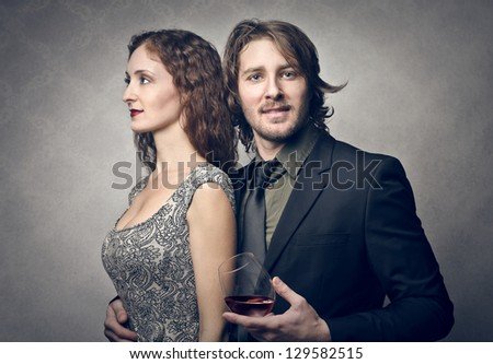 attractive young man with beautiful woman