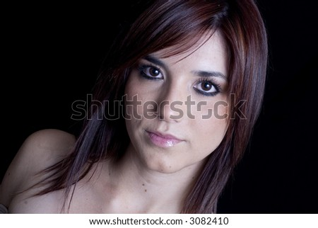 Attractive young model - stock photo