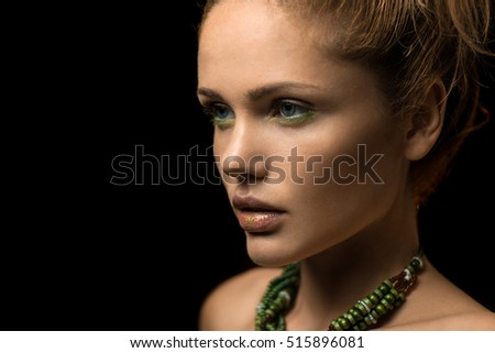 attractive young model with beautiful make-up