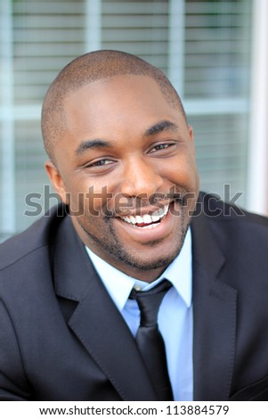 Attractive, Young Professional African American Businessman Smiling