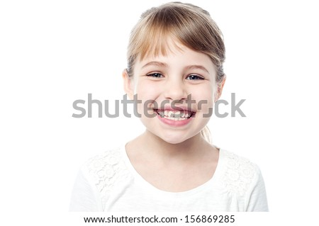 Attractive young smiling girl child - stock photo