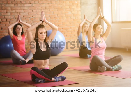 Attractive young women are caring of health - stock photo