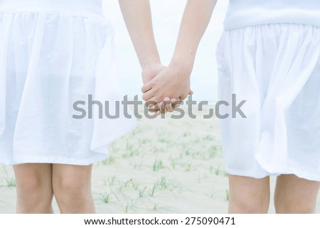 attractive young women or teenage girls best friends - stock photo