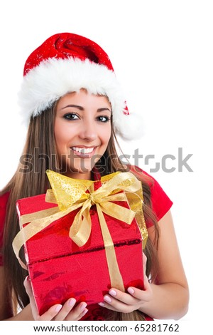 attractive young women with the gift