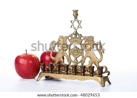 Attribute of religion of a Judaism for ignition of candles for religious holidays. - stock photo