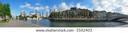 Au coeur de Paris—UNESCO World Heritage Site, Banks of the Seine in Paris - stock photo