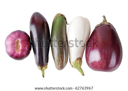aubergine isolated on a white background - stock photo