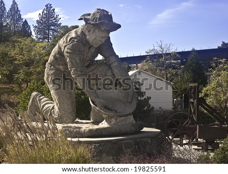 Auburn Miner.  This is the famous Auburn Miner - a longtime city landmark of Auburn, California, an old gold rush city. - stock photo