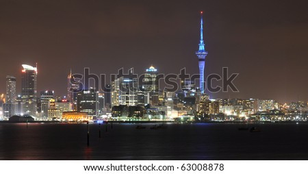 Auckland city night time