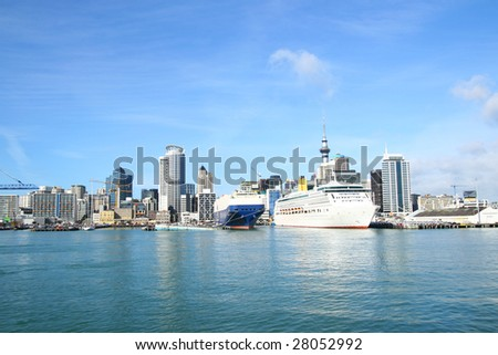 Auckland city point view, New Zealand - stock photo