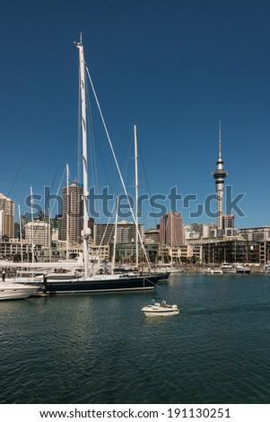 Auckland harbour - stock photo