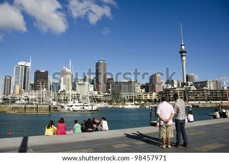 AUCKLAND- MARCH 25: The harbourside city of Auckland (population 1.5 million) is the largest and fastest-growing city in New Zealand, on March 25, 2012 in Auckland, New Zealand.