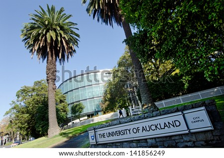 AUCKLAND - MAY 29:Student in University of Auckland on May 29 2013.It's the largest university in the country, and was ranked 82nd worldwide in the 2011 QS World University Rankings. - stock photo
