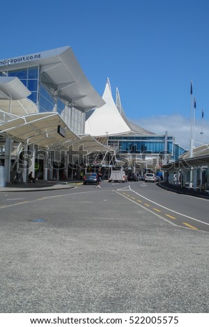 AUCKLAND, NEW ZEALAND - JANUARY 5 2012: Auckland Airport main terminal the primary airline hub for domestic and international flights in New Zealand