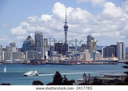 Auckland, New Zealand Skyline - stock photo