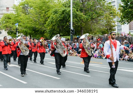Auckland, New Zealand  29:The Santa Parade features all the amazing pageantry, fun and surprises that have made this annual City on Sunday November 2015.