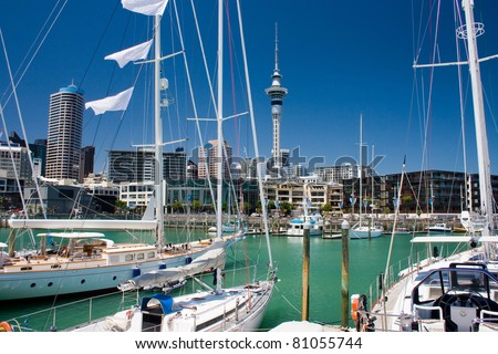 Auckland waterfront - stock photo