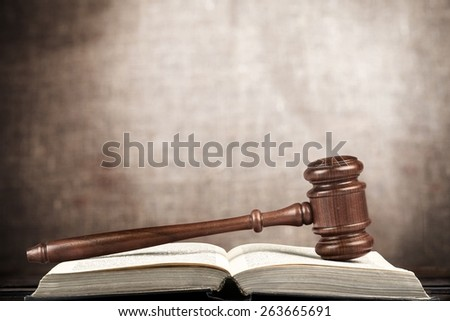 Auction, courtroom, bid. - stock photo