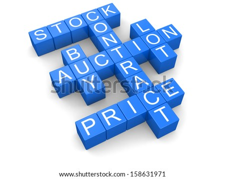 Auction crossword (clipping path included)