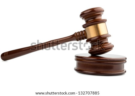auction hammer or gavel, symbol photo of authority and decision-making