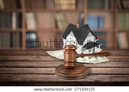 Auction, House, Currency. - stock photo