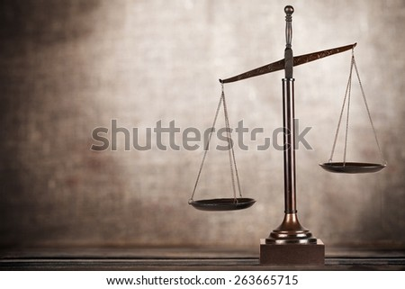 Auction. Judge's hammer on wooden table - stock photo