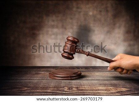 Auction, lawyer, gavel. - stock photo