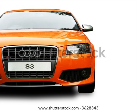 Audi S3 Front isolated - stock photo