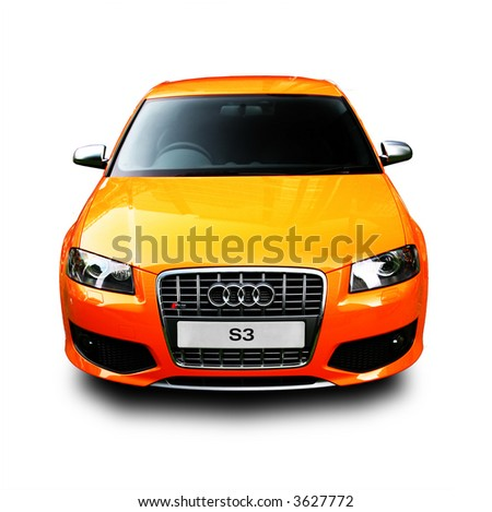Audi S3 Isolated - stock photo
