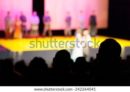 audience at opera - stock photo