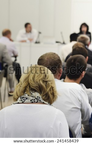audience at the conference hall  - stock photo