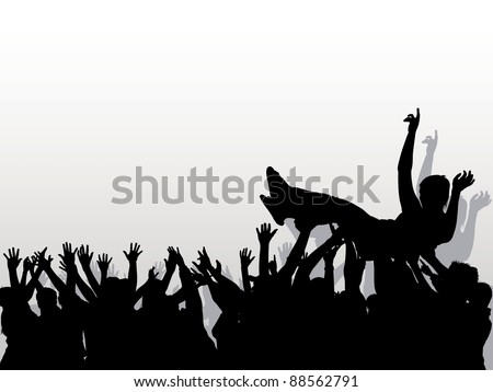 Audience - Background with silhouettes