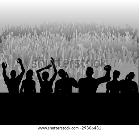 Audience Bitmap Background - stock photo