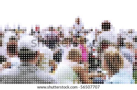 audience - photo graphic - stock photo