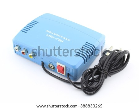 Audio and video to RF converter - stock photo