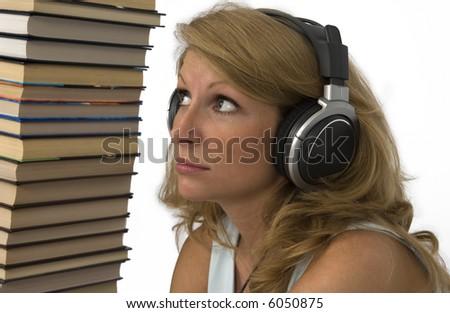 Audio books horror. - stock photo