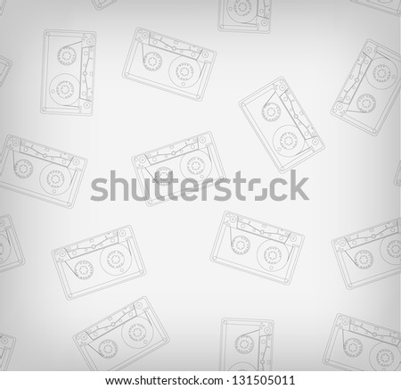 Audio cassete pattern contour. Its a raster version. Vector search in my portfolio - stock photo