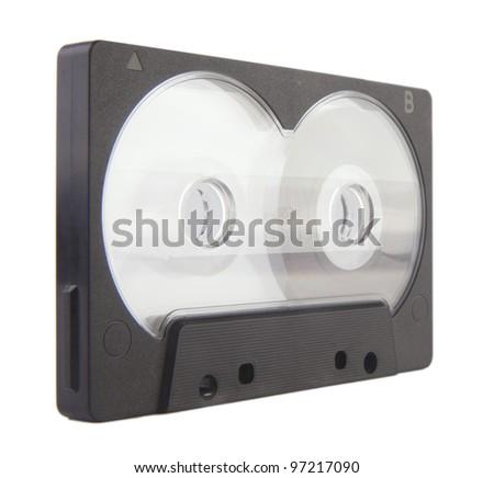 audio cassette isolated - stock photo