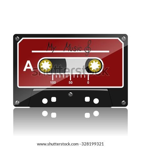 Audio cassette-My Music - stock photo