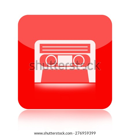 Audio cassette tape icon - stock photo