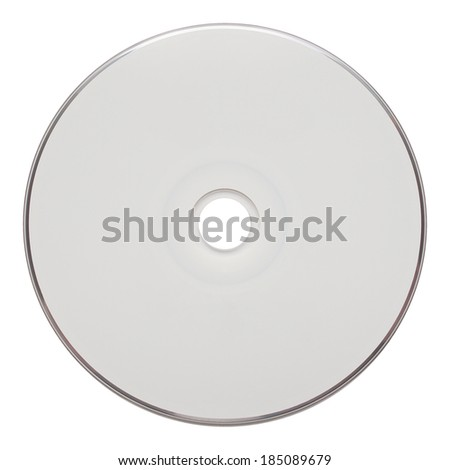 Audio CD isolated over a white background