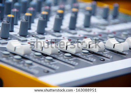 Audio console in my home studio