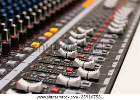 Audio Control - stock photo
