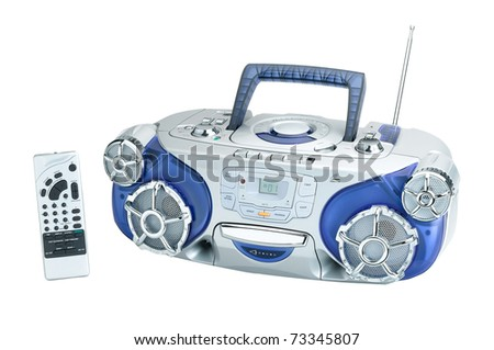 Audio DVD and CD player for your home entertainment the image isolated on white - stock photo