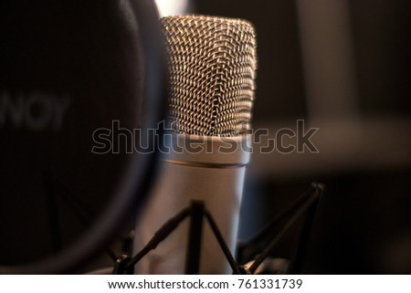 Pop filter stock images royalty free images vectors shutterstock audio microphone with pop up filter and blurred background sciox Images