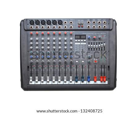 audio mixer - stock photo